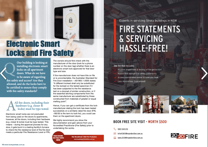 2020 Fire Protection Strata Manager Buildings